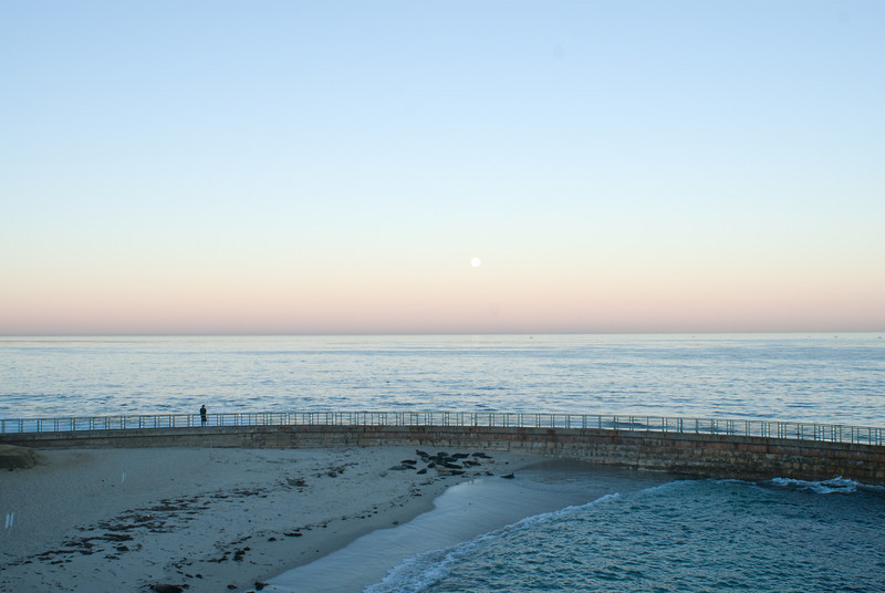 La Jolla Full Moon over the Children's Cove_-9