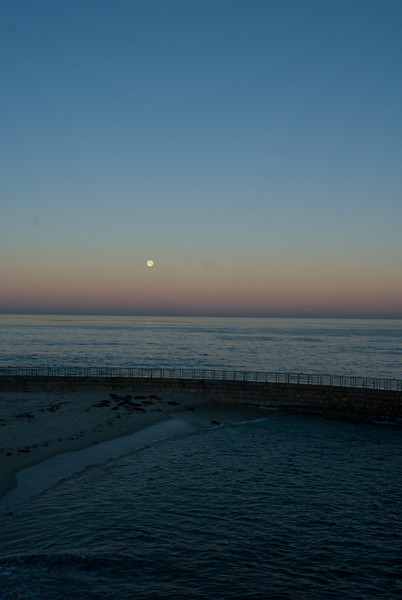 La Jolla Full Moon over the Children's Cove_