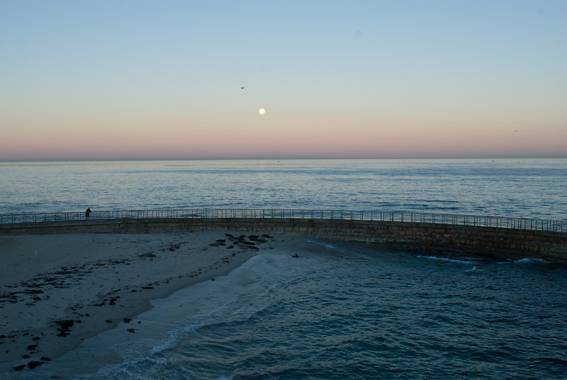 La Jolla Full Moon over the Children's Cove_-4