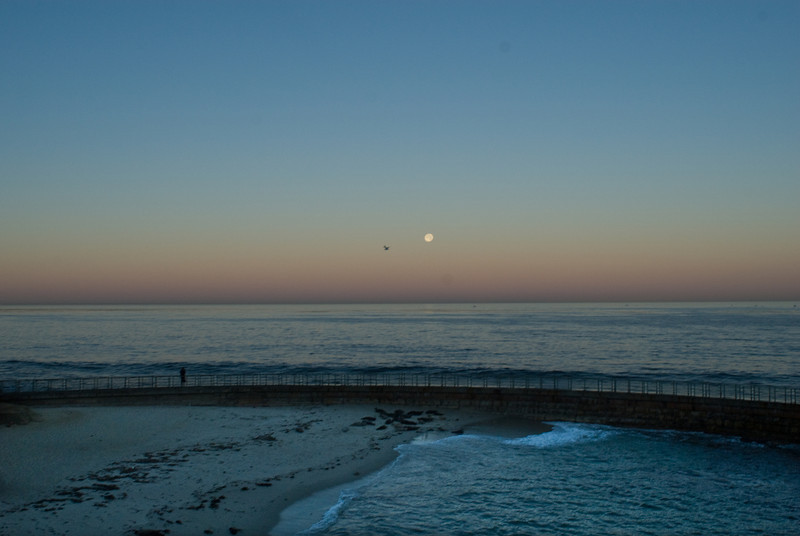 La Jolla Full Moon over the Children's Cove_-8