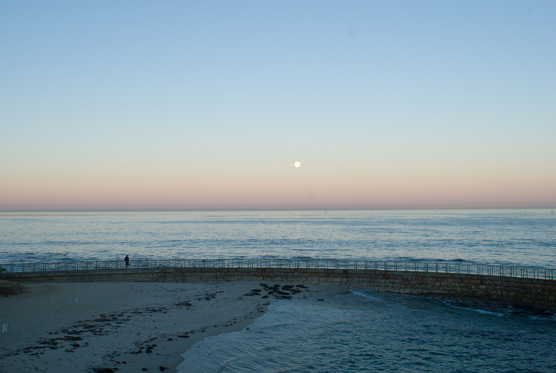 La Jolla Full Moon over the Children's Cove_-7