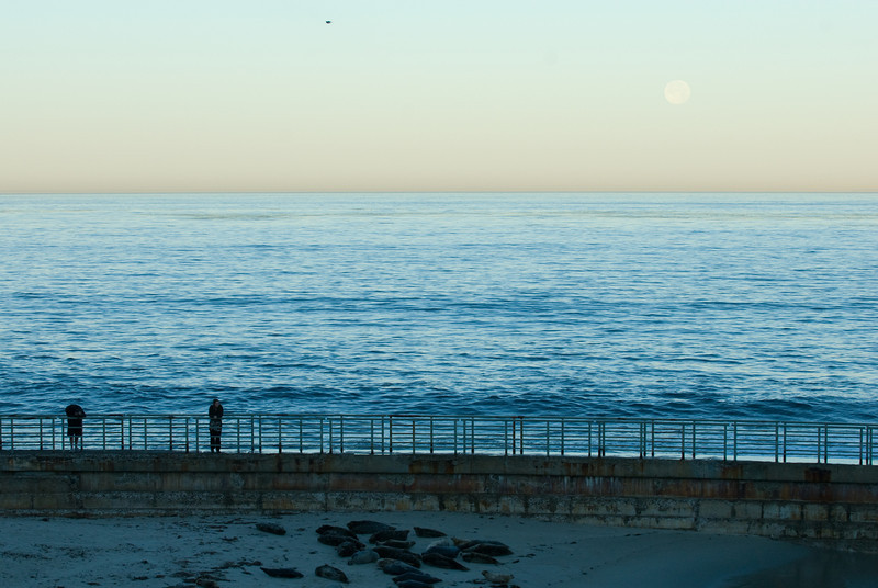 La Jolla Full Moon over the Children's Cove_-40