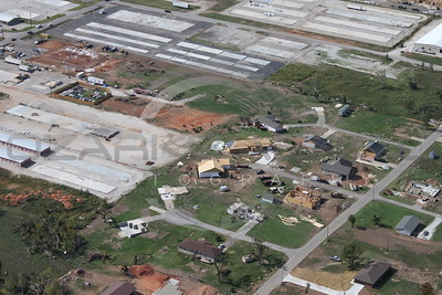 Aerial photographs Joplin Missouri tornado recovery efforts Oct 2011