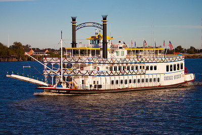 Boat on the Mississippi River, New Orleans