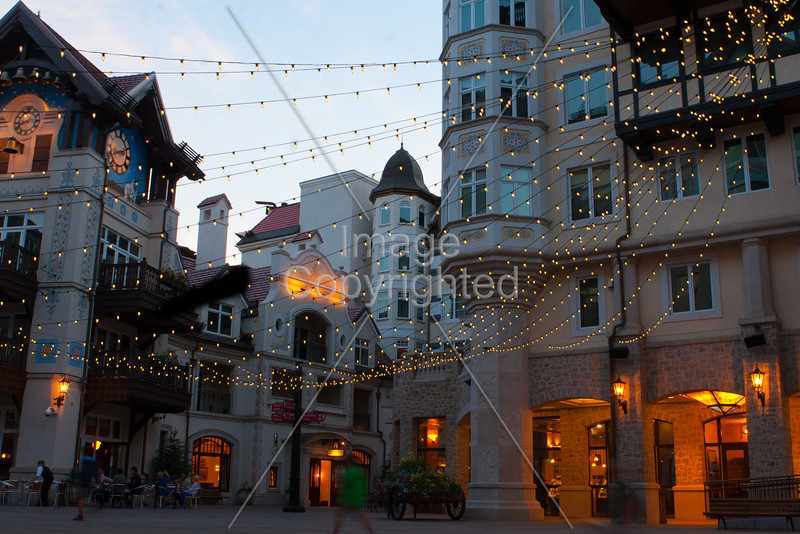 The square in Vail village.