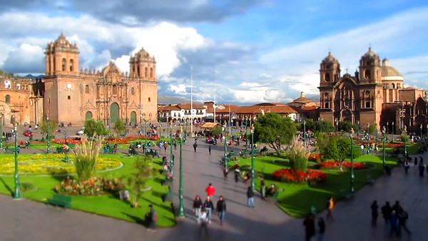 Time Lapse of Cuzco Peru Court Yard