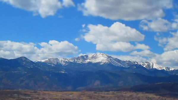 Time Lapse of Pikes Peak, Colorado