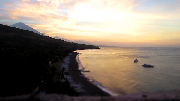 Time Lapse of Bali Sun Set overlooking Beach