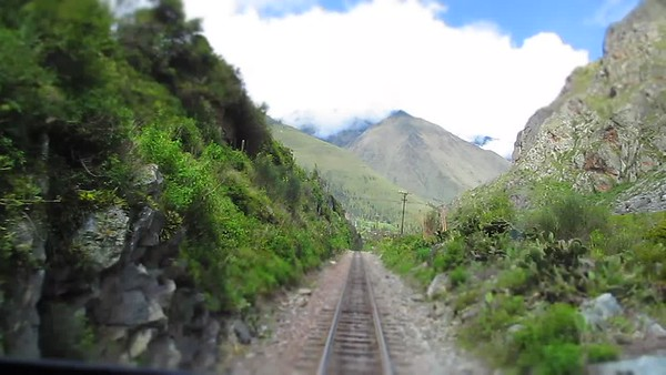 Time Lapse of Train Through Mountains of Peru