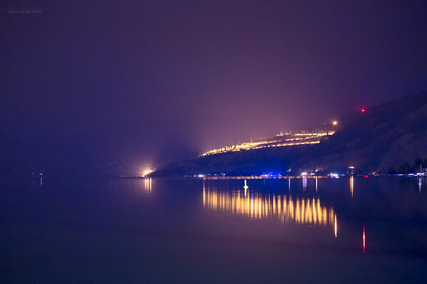 Aug 12th - Fire haze over Okanagan Lake
