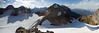 Panorama from a short way up Mt Little (Peak 2).