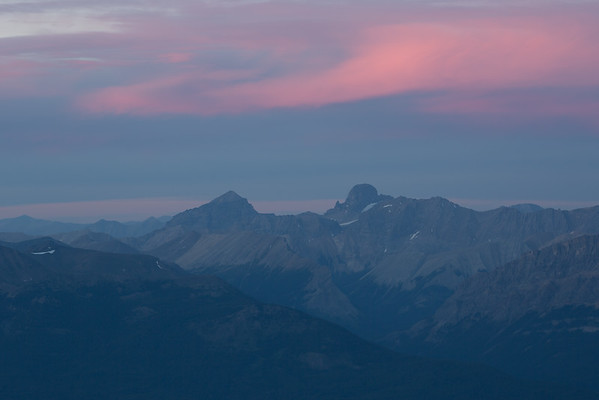 Mount Douglas and Mt St Bride at sunset