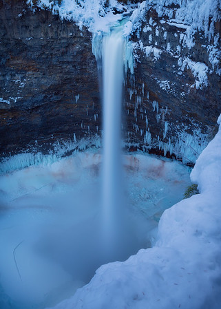 Helmcken Falls on the Rim Trail in winter
