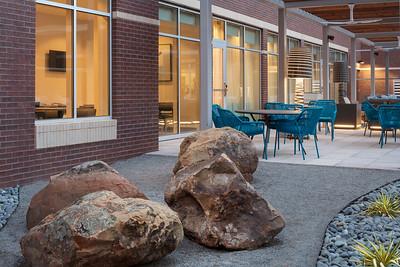Patio with Rocks