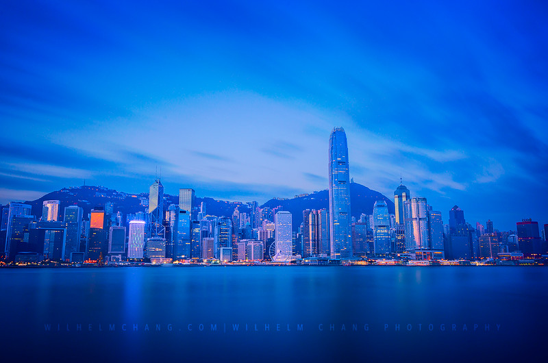 Victoria Harbour -Blue Hour