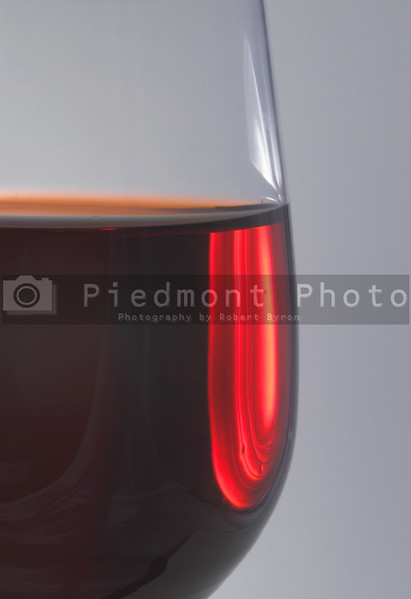 A glass of red wine in a wine goblet.