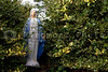 Virgin Mary yard ornament.