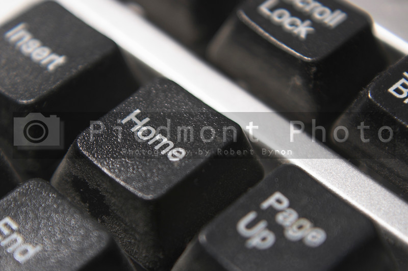 The home key on a computer keyboard.