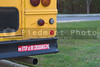 Schhol bus bumper sticker - We stop at railroad crossings.