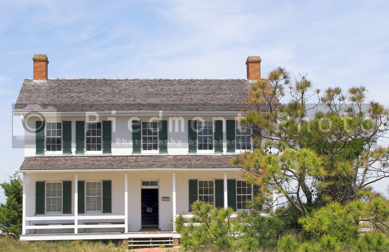 The historic home of a lighthouse keeper.