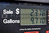 The display on a gas pump at a service ststion.