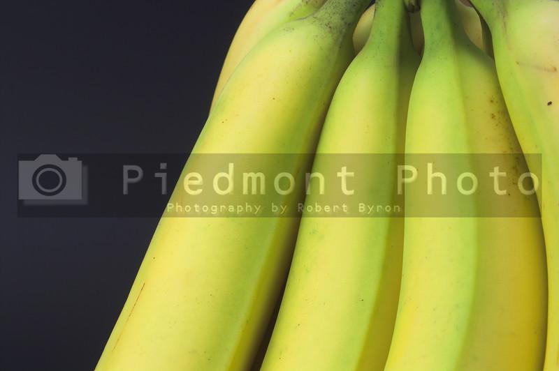 Fresh yellow bananas ready to be eaten.