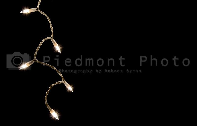 A single strand of Icicle Christmas Lights.