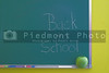 A green chalkboard - Back to school concept.