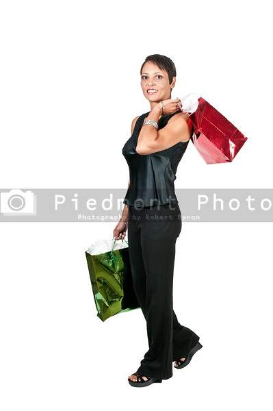 A beautiful woman on a shopping spree