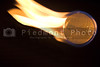 A flaming golf ball rocketing through space.