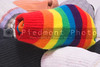 Clean and colorful striped knitted toe socks.