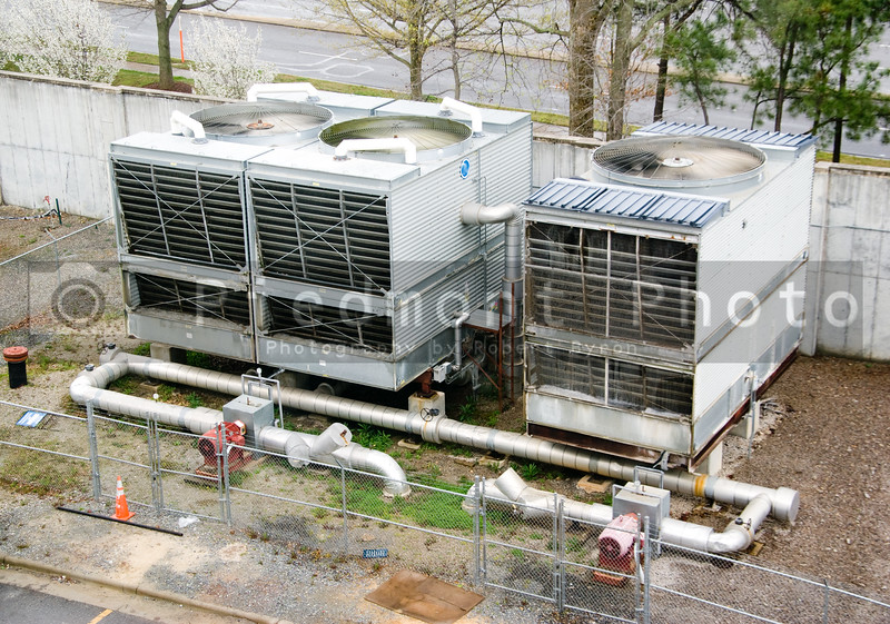 A huge outdoor industrial air handling unit.