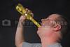A man enjoying a beverage. Diet drink concept.