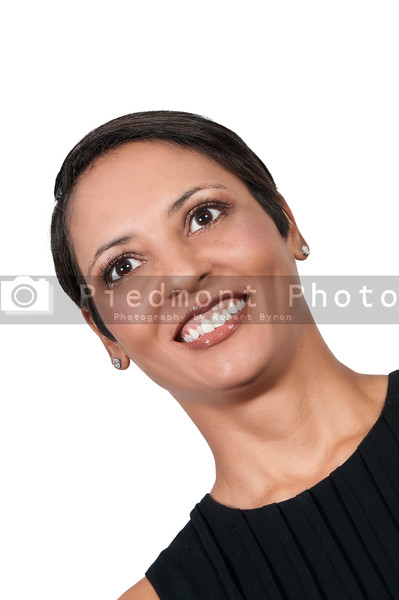 A very beautiful multi ethnic woman with a big smile