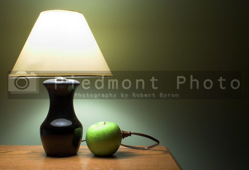 The famous apple powered lamp.