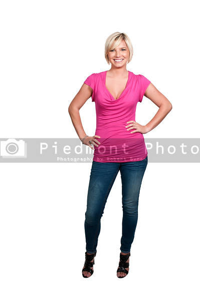 A beautiful young blonde haired woman with a big smile