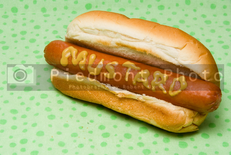 A traditional all beef or pork hotdog.