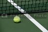 Felt covered tennis ball ready for sport
