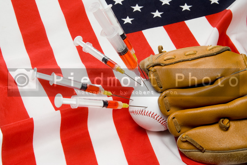 The concept of illegal steroid use in baseball.