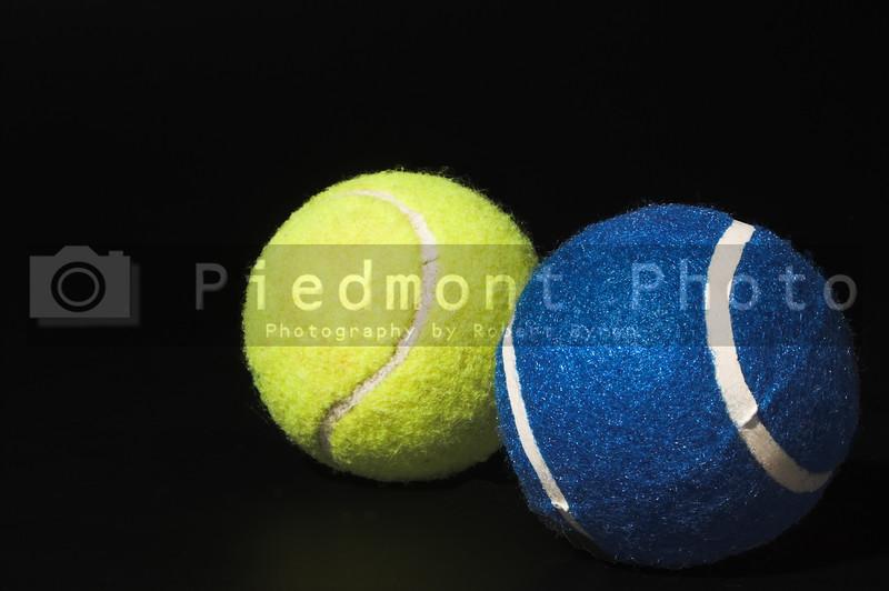 Felt covered tennis balls ready for sport.