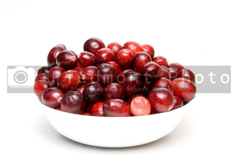 Delicious and healthy cranberries in a bowl.