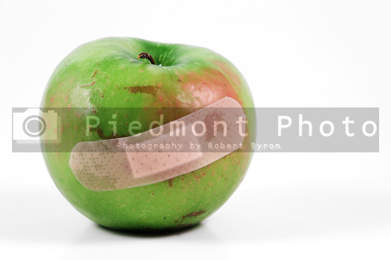 A band aid on a bruised but still delicious apple.