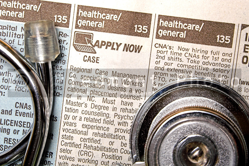 The medical help wanted section of the classifieds.