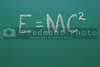 A Chalkboard with Einstien's theory of relativity.