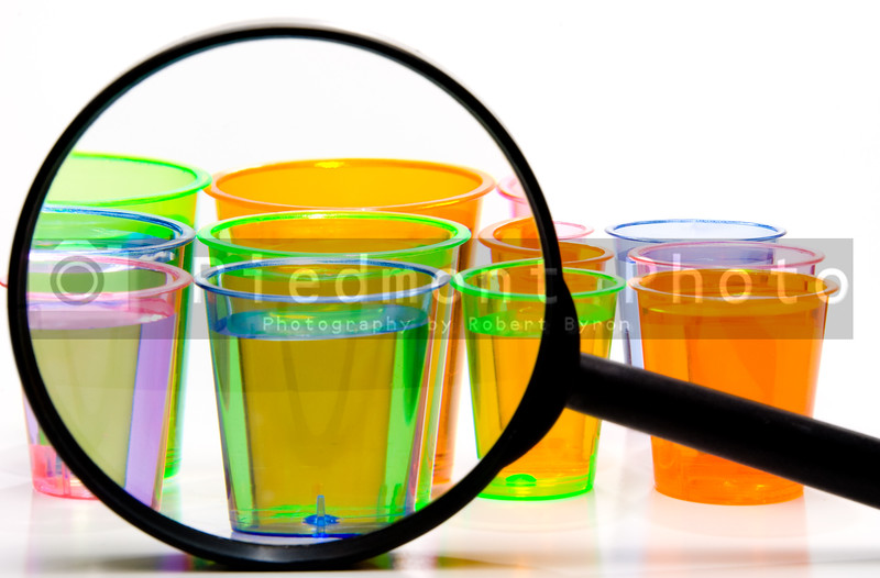 Shot Glasses Under a Magnifying Glass