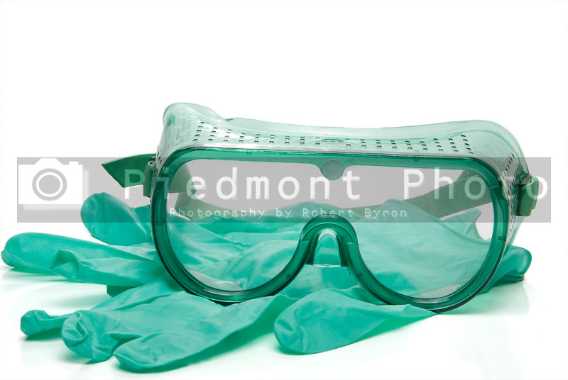 Personal protective equipment - safety glasses and latex free gloves