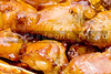 Delicious baked chicken wings with a tangy barbeque sauce.