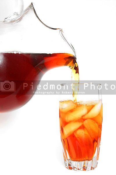 A cold glass of traditional southern iced tea.