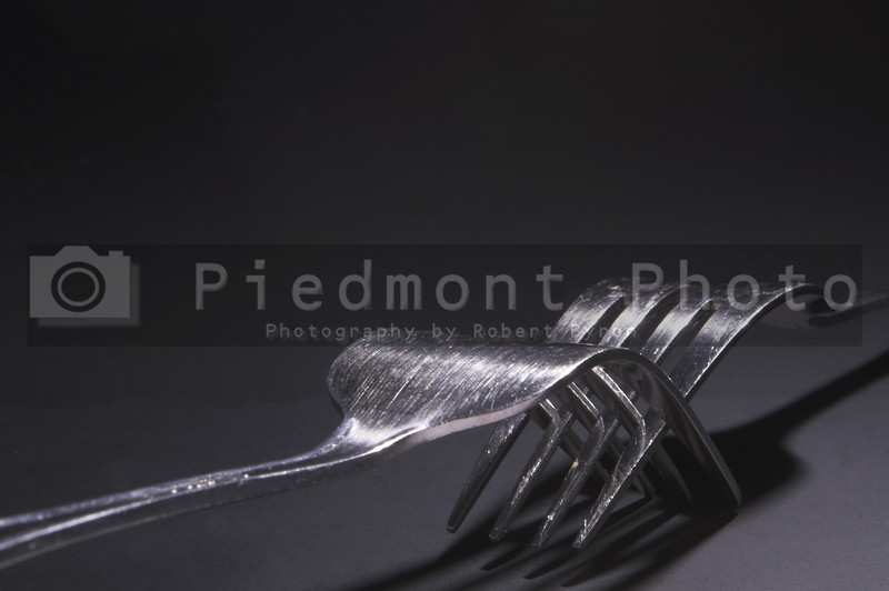 Two silver forks.