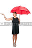 A beautiful young woman holding an umbrella